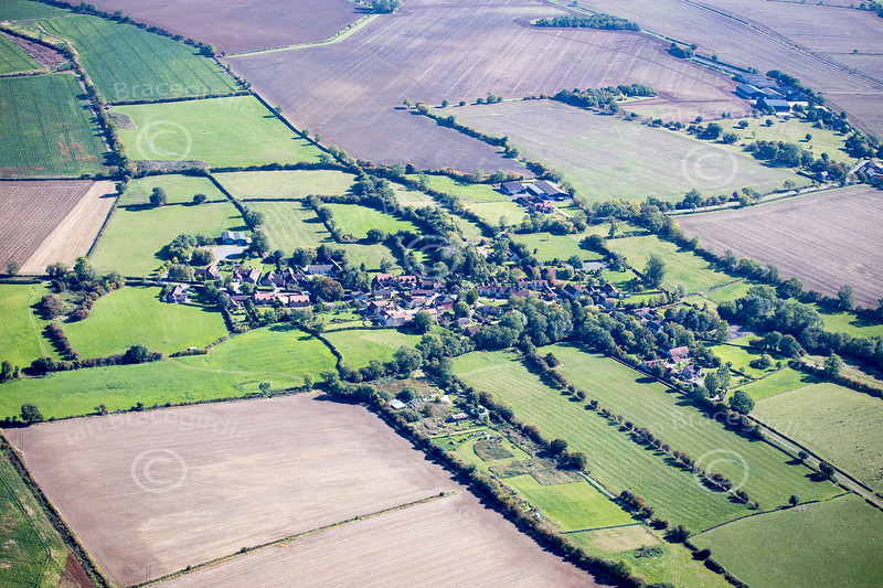 Aerial photo of Humby in Lincolnshire.