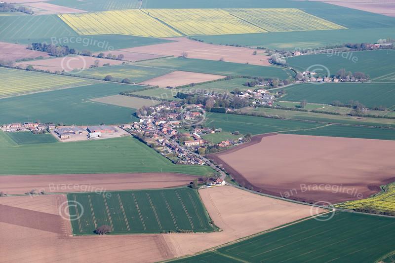 Aerial photo of Luddington.