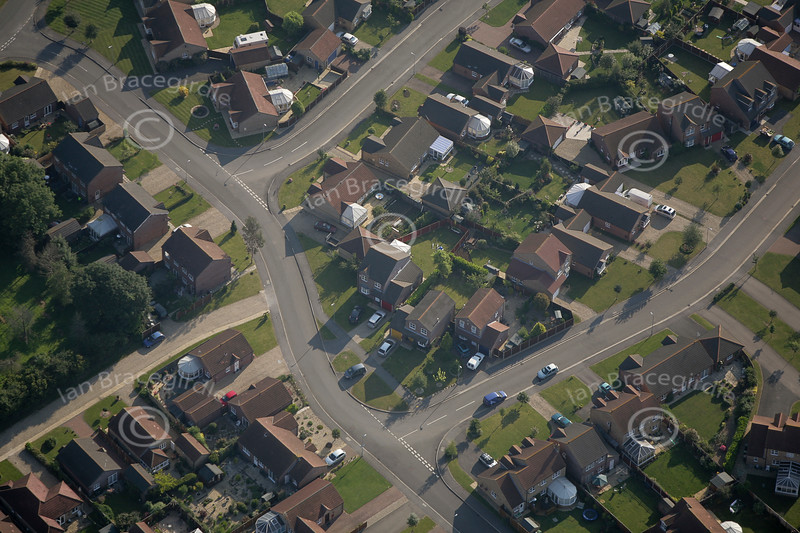 The Village of Navenby in Lincolnshire from the air.