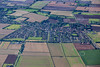 Aerial photo of Navenby in Lincolnshire.