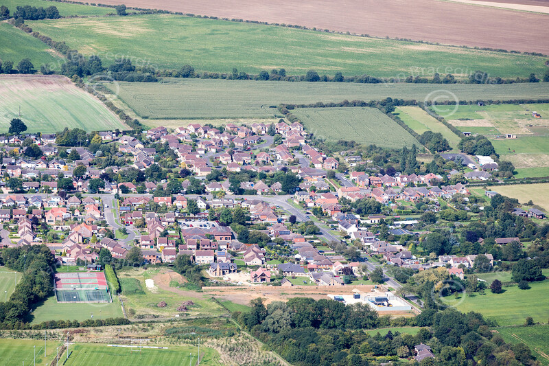Aerial photo of Nettleham.