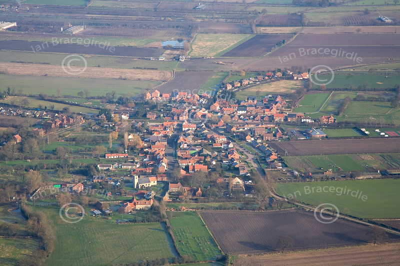 Aerial photo of North Scarle in Lincolnshire.