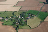 An aerial photo of Old Somerby in Lincolnshire.