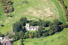 Aerial photo of St Oswald Church.