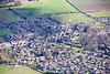 An aerial photo of Ryhall near Stamford in Lincolnshire.