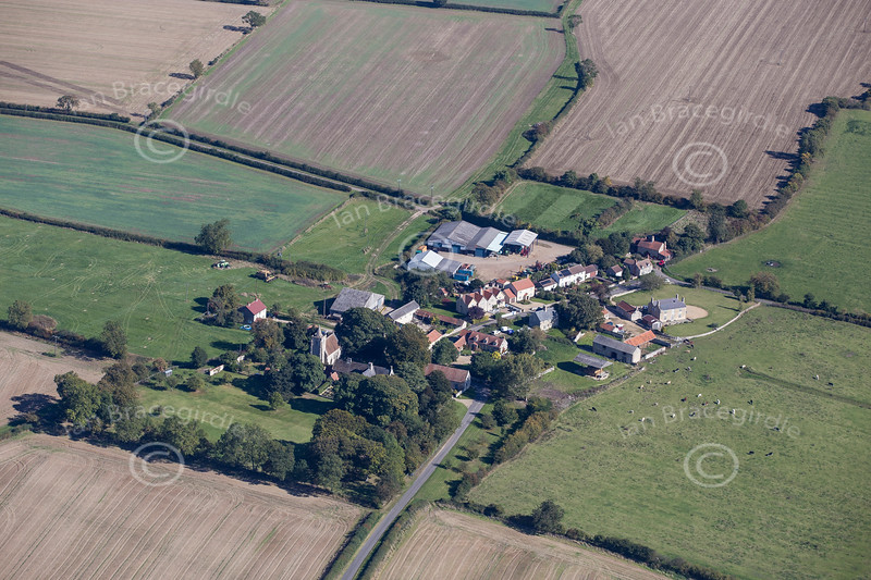 Aerial photo of Sapperton in Lincolnshire.