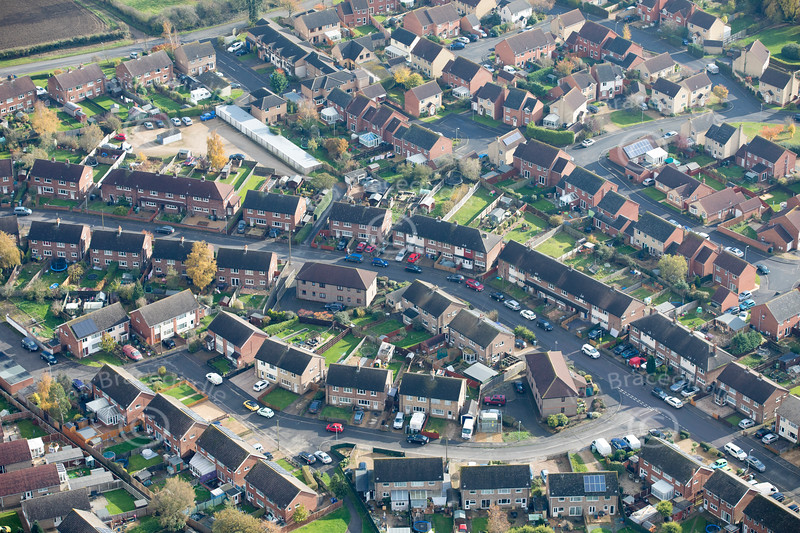 Aerial photo of South Witham.