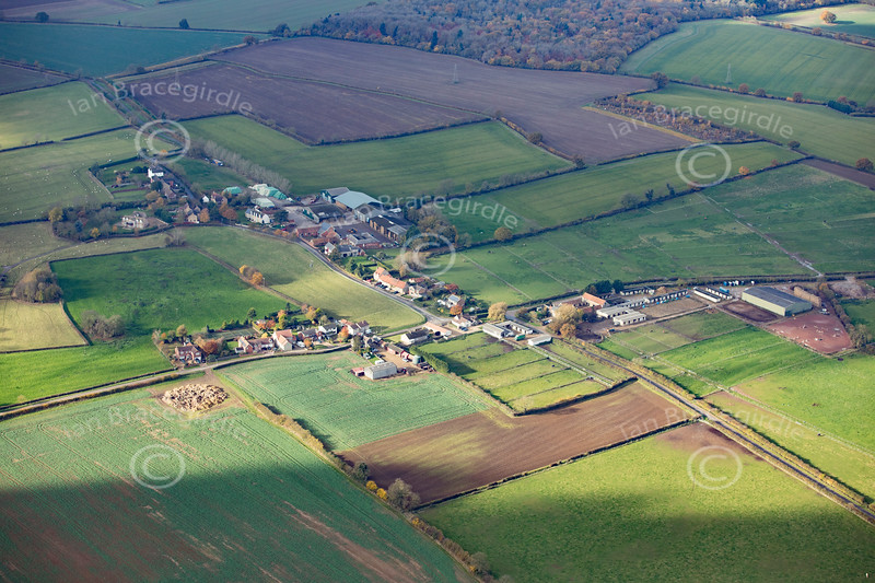 Aerial photo of Stainfield.