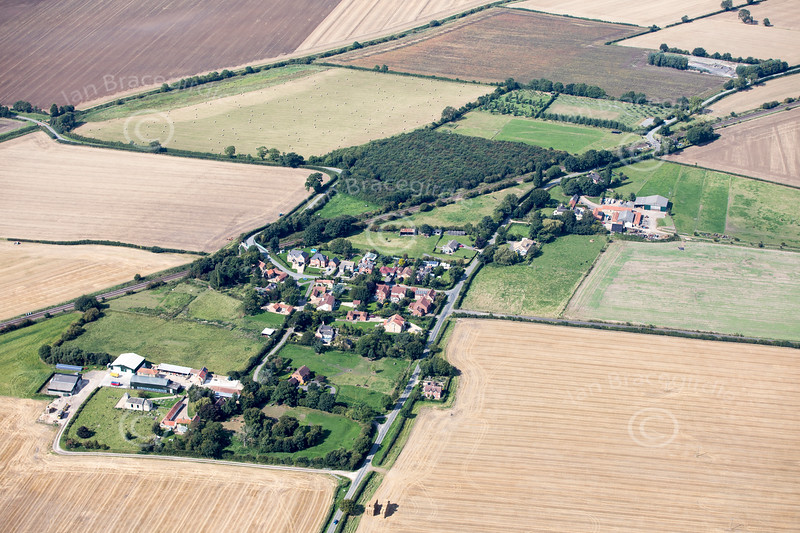 Aerial photo of Stainton by Langwith.
