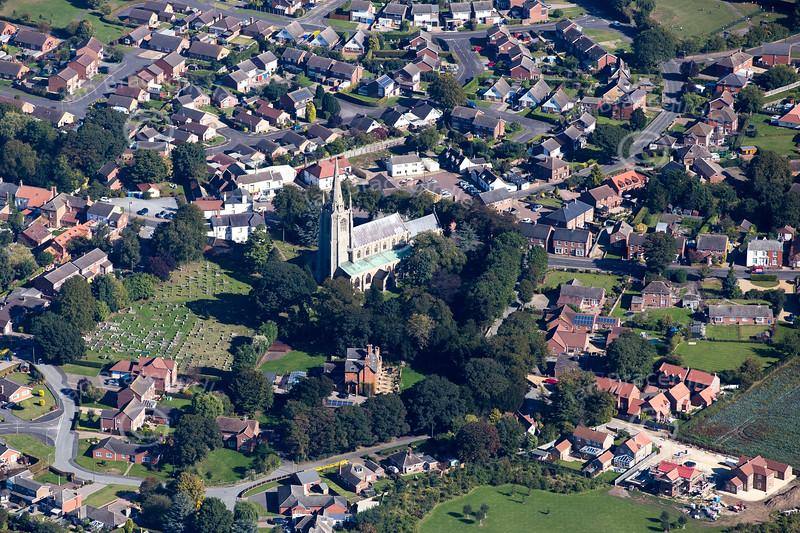 Aerial photo of Swineshead in Lincolnshire.