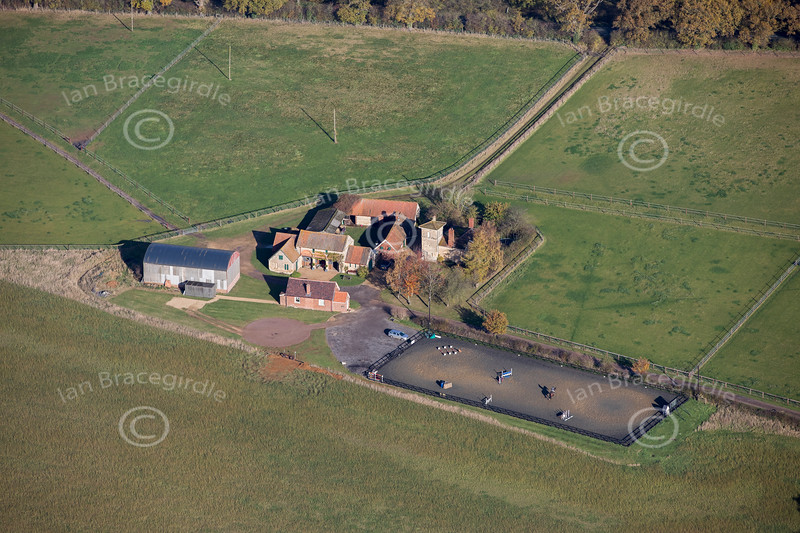 Aerial photo of Tower Farm.