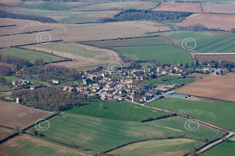 Aerial photo of Swinstead.