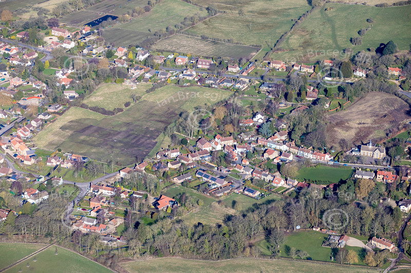 Aerial photos of Tealby.