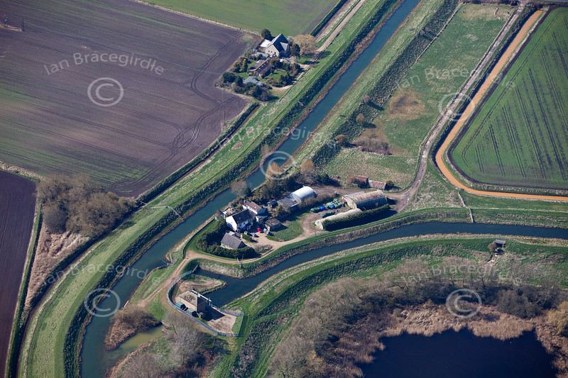 Aerial Photo of Tongue End in Lincolnshire.