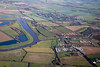 An aerial photo of Torksey in Lincolnshire.