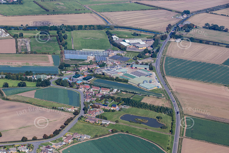 Aerial photo of Wainfleet in Lincolnshire.