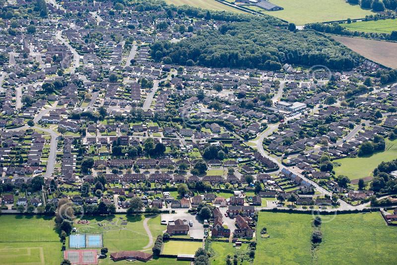 Aerial photo of Washingborough.