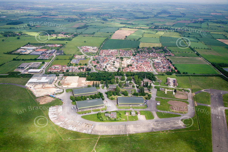 An aerial photo of Witham St. Hughes in Lincolnshire