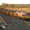 66140 passes Brocklesby with 6K21 Santon - Immingham empty ore on 28th Dec