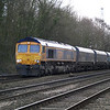 66735 passes Hillam Gates with 4N12 Drax PS - Tyne Dock empties on 27th Dec