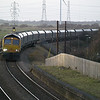 66711 rounds the curve at Althorpe with 4R18 Doncaster Down Decoy - Immingham empty coal on 27th Dec