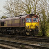 66055 passes Hillam Gates on 0xxx Tyne Yard - Knottingley TMD light engine move