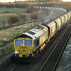 66539 powers through Brocklesby with 6R08 Immingham - Drax PS loaded coal on 28th Dec
