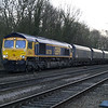 66738 passes Hillam Gates with 4N47 Drax PS - Tyne Dock empty biomass on 27th Dec