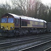 66020 passes Hillam Gates with 6D08 Drax PS - Gascoigne Wood monster boxes on 27th Dec