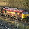 EWS liveried 60065 passes Brocklesby with 6E46 Kingsbury - Lindsey empty tanks on 28th Dec