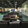 Portland has some pretty comfortable, for an airport, sleeping arrangements.