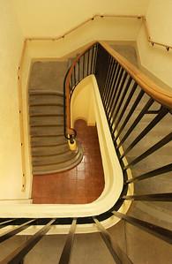 Renovated stairway Branner Hall