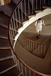 Tresidder Union's spiral staircase