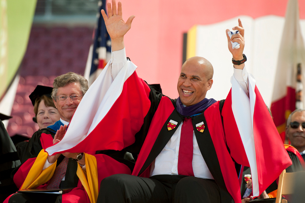 Cory Booker at the 2012 Commencement