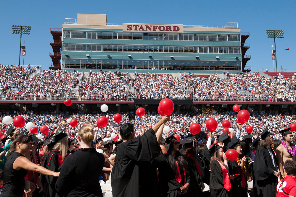Balloons released at the 121st Commencement.