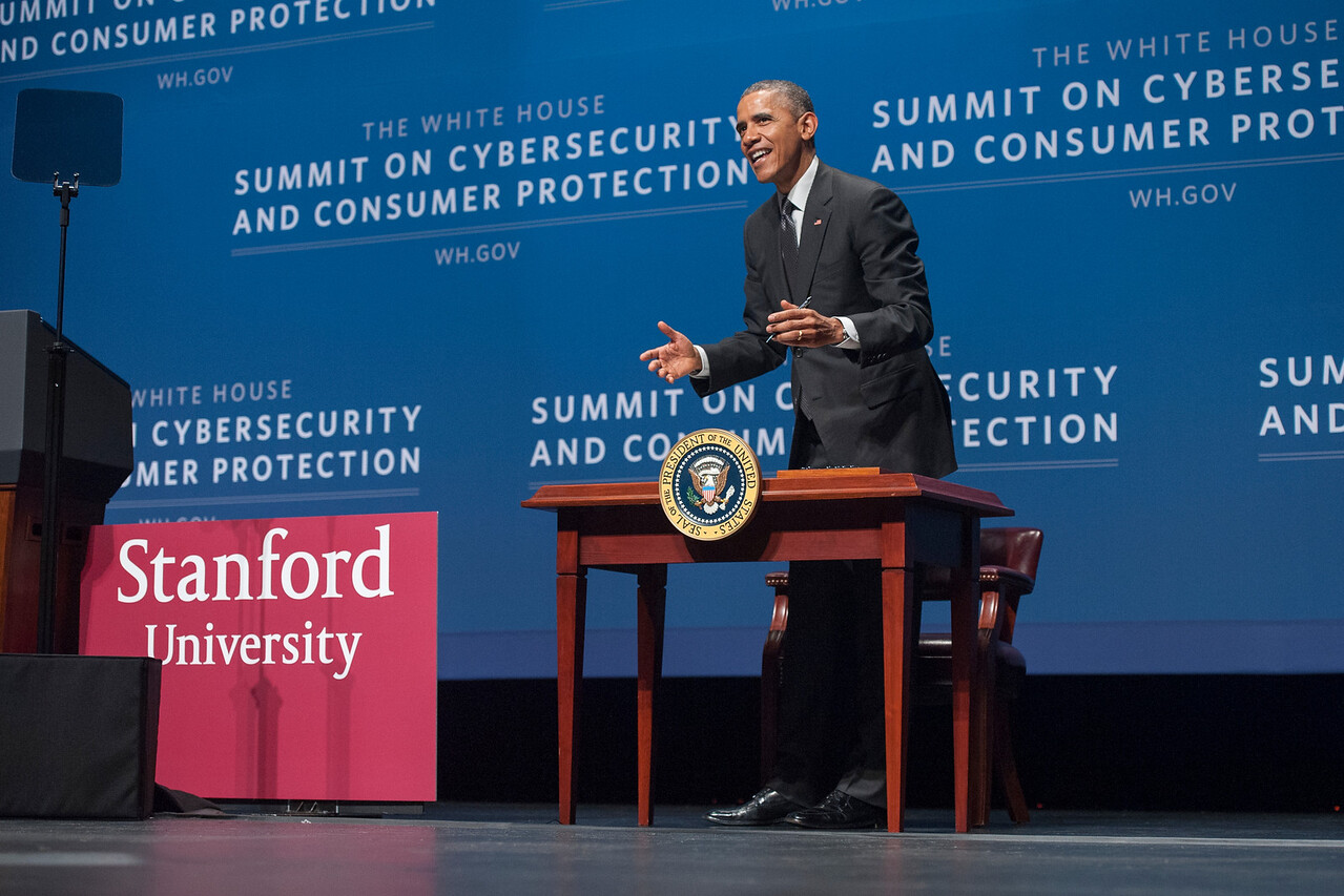 Barack Obama signs an executive order.