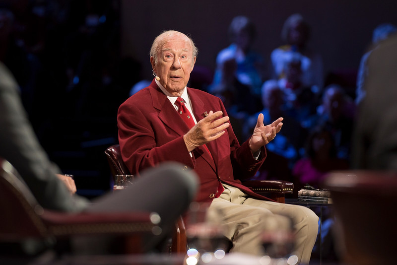 George Shultz at the Roundtable at Stanford.