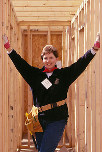 2001 Denver, CO - Linda Fuller at Women Building a Legacy building 5 houses in a week.