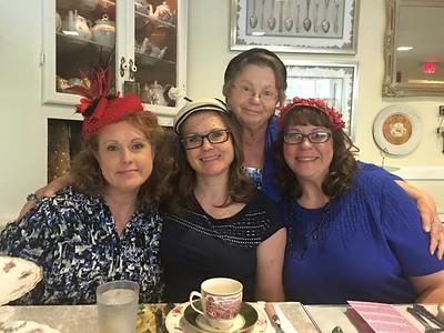 The Keener sisters and Grandma Keener at High Tea