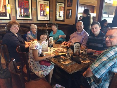 At BJs for Easter Lunch