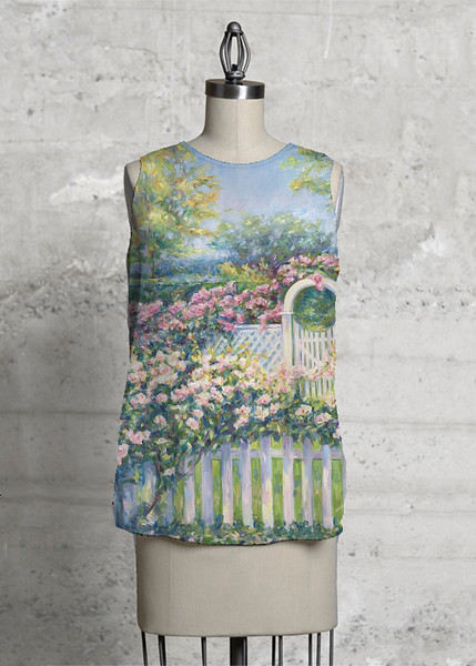 Cape Cod Roses Sleeveless Top