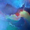"Lunenburg artist Linda Malcomb painting called ""Churn"" that she painted this year. SENTINEL & ENTERPRISE/JOHN LOVE"