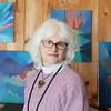 Lunenburg artist Linda Malcomb at her home on Wednesday February 8, 2017. SENTINEL & ENTERPRISE/JOHN LOVE