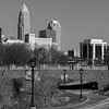 Charlotte NC, Skyline from Little Sugar Creek Greenway