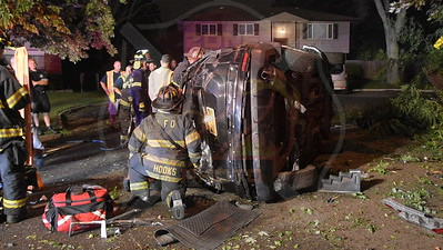 Lindenhurst F.D. MVA w/ Overturn and Entrapment   N. Queens Ave. 9/12/18
