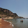 Another beautiful sandy beach, Kolumbia, approaching Lindos from the north.