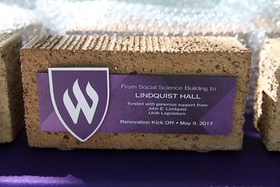 Commemorative brick at Lindquist Hall Renovation Kick Off