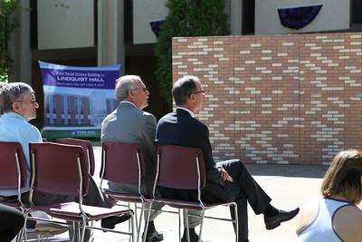 John E. Lindquist and President Chuck Wight