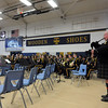 "Paul Hinson plays the bagpipes accompanying the Teutopolis High School Band in ""Amazing Grace"".<br /> Chet Piotrowski Jr. photo/Piotrowski Studios"