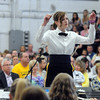 "Senior Julia Greuel conducts the Teutopolis High School Band in a performance of ""The Music of the Night"" during the Spring Concert.<br /> Chet Piotrowski Jr. photo/Piotrowski Studios"